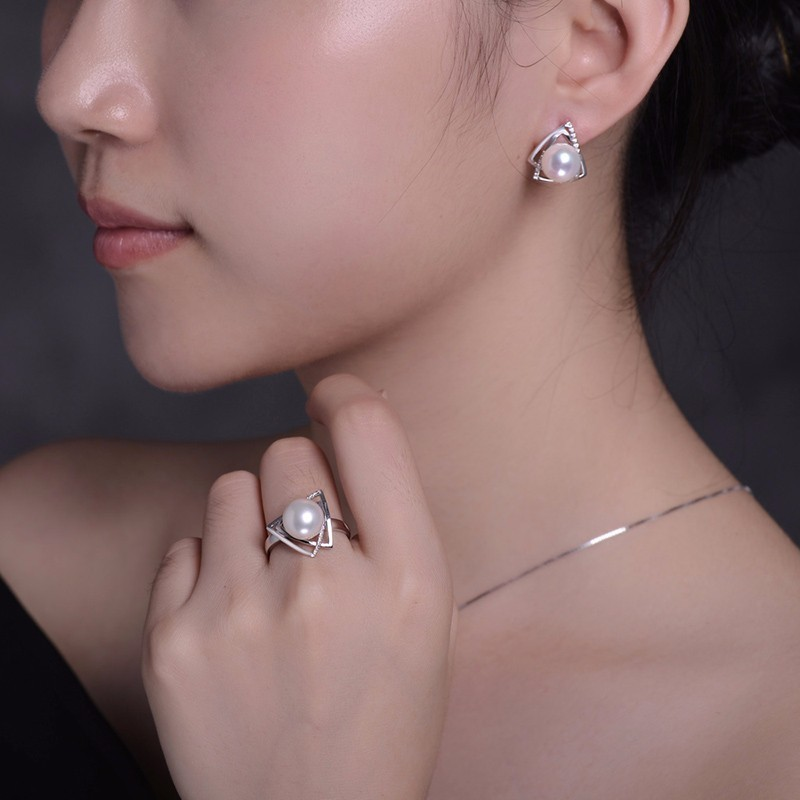 tz09044set silver pearl earring necklace fine jewelry (4)