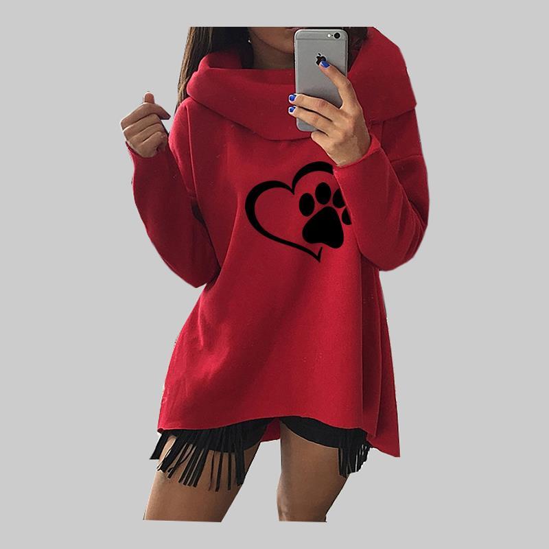 Großhandel Niedliche Tier Katze Hund Frauen Winter Hoodies Schal Kragen Langarm Mode Lässig Herbst Sweety Sweatshirts Grobe Pullover Von Netecool,