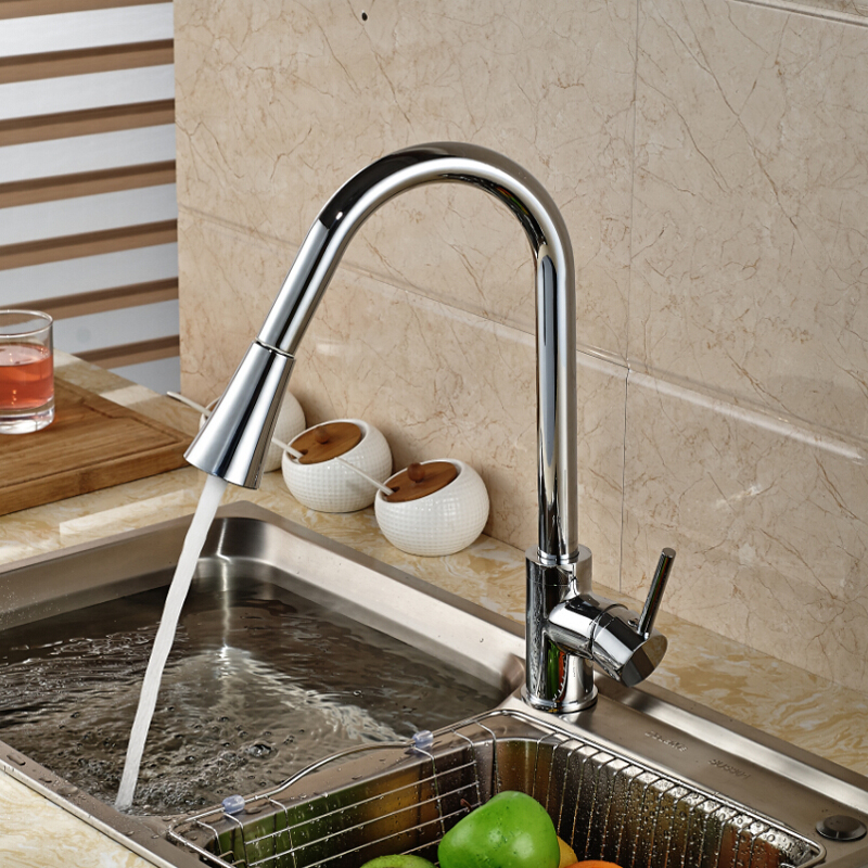 Chrome-Finish-Pull-Out-Sprayer-Head-Kitchen-Sink-Faucet-Single-Handle-Mixer-Taps-Kitchen-Faucet-Taps (3)