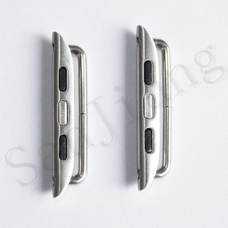 for Watch Watch Series 4 Stainless Steel Adapter Iwatch 40mm 44mm Metal Band Connector DIY Watchband Strap Connector /Pair