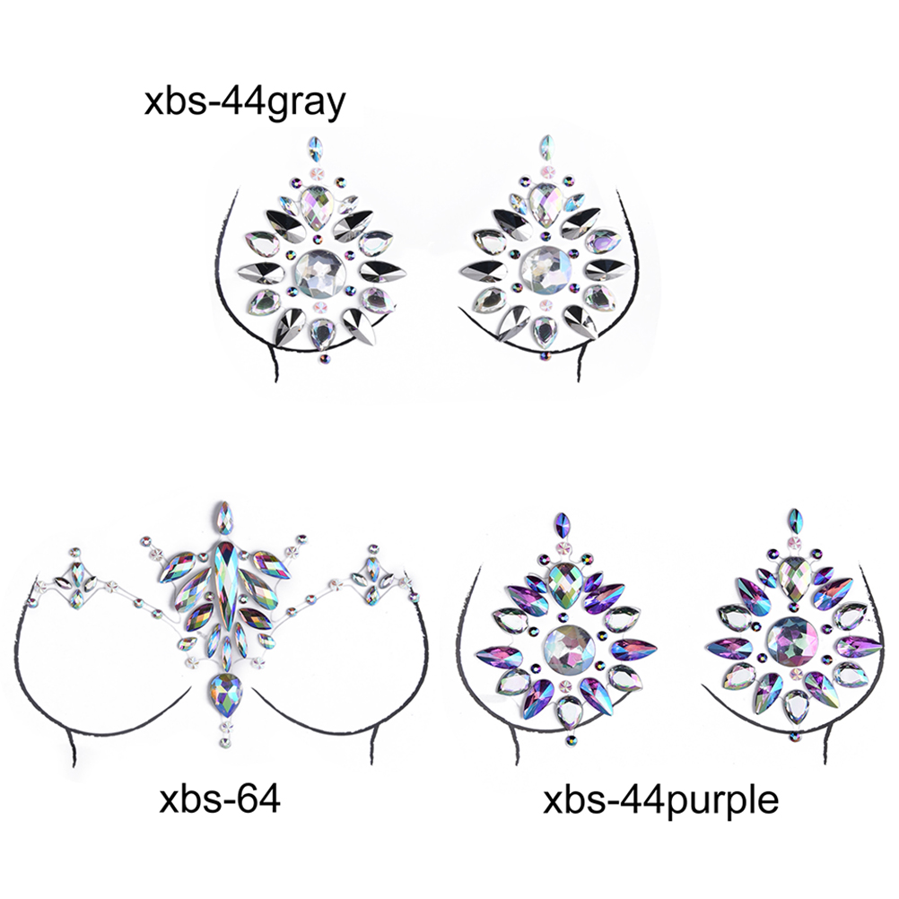 Crystal Nipple Stickers Women Bra Breast Pasties Adhesive Stickers Accessorie QP