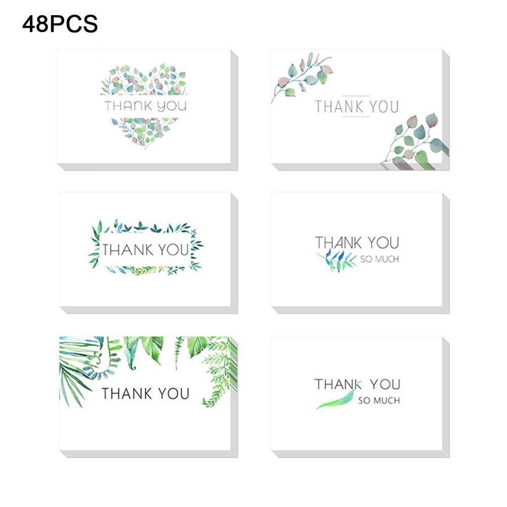 6styles Danke Karten Umschläge Einfache Grußkarte für Business Festival Invation