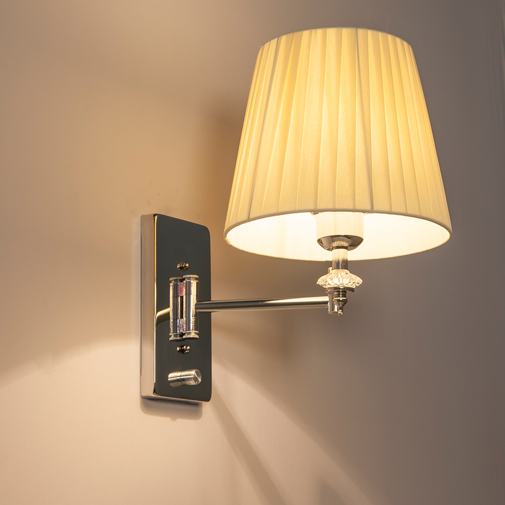 Großhandel Moderne Wandlampe Wandleuchten Luminaria Bett Leselampe Schwinge  Arm Wandleuchte E27 Kristall Wandleuchte Badezimmer Lichter Von ...