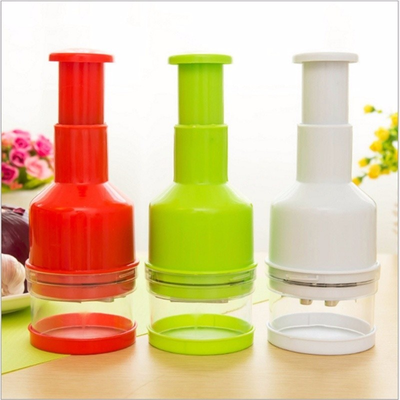 1pc Multi-functional Hand Chopper Plastic Garlic Presses Fruit Salad Vegetable Onion Chopper Cutter Garlic Grinding Kitchen Hand Tool (10)