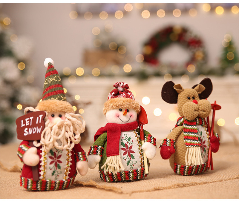 Christmas snowman ornaments Christmas Decorations for Home New Year scarf doll Santa Claus Desktop Decorations Navidad Natal (12)