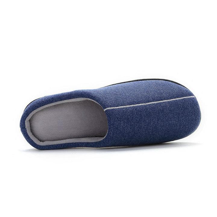 High Quality Velvet With Soft Fleece Outside Comfortable Soft Sole Men Memory Foam Home Slipper Men Shoes (1)