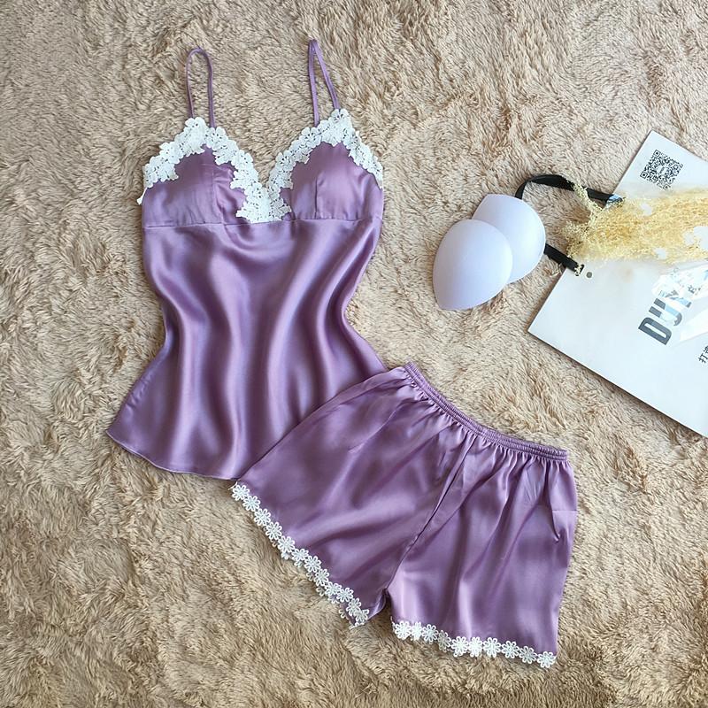 VLENATLNO-pajamas-sets-summer-style-Women-Female-Sleep-sets-Deep-V-neck-Sexy-Spaghetti-Strap-Shorts