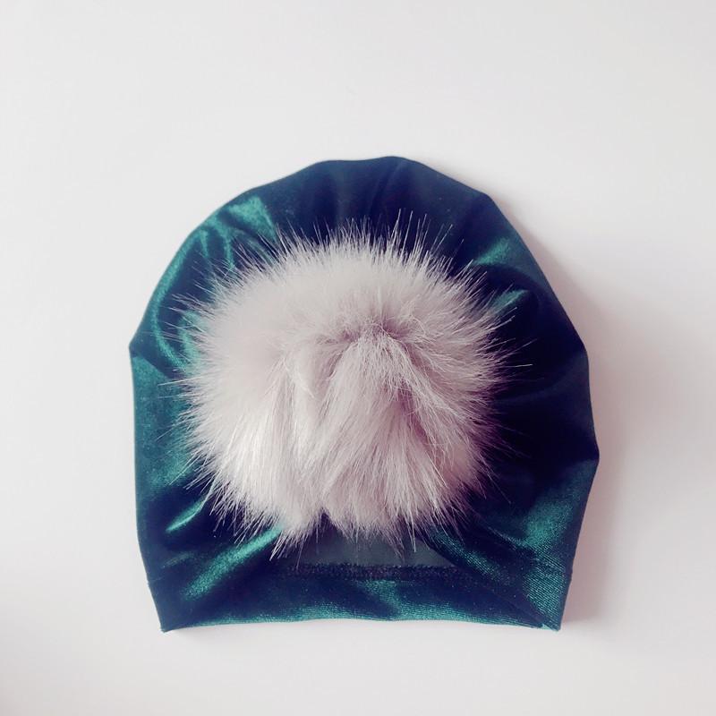 8styles Baby Headwrap Pleuche turban hat fur Newborn Baby Hat Newborn Baby Turban cap kids Xmas party Gifts FFA906