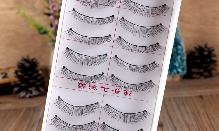 Handmade False Eyelashes Eye Makeup Natural Eye Lash Extension Fake Lashes Soft False Eyelash Nattural Long 217/216