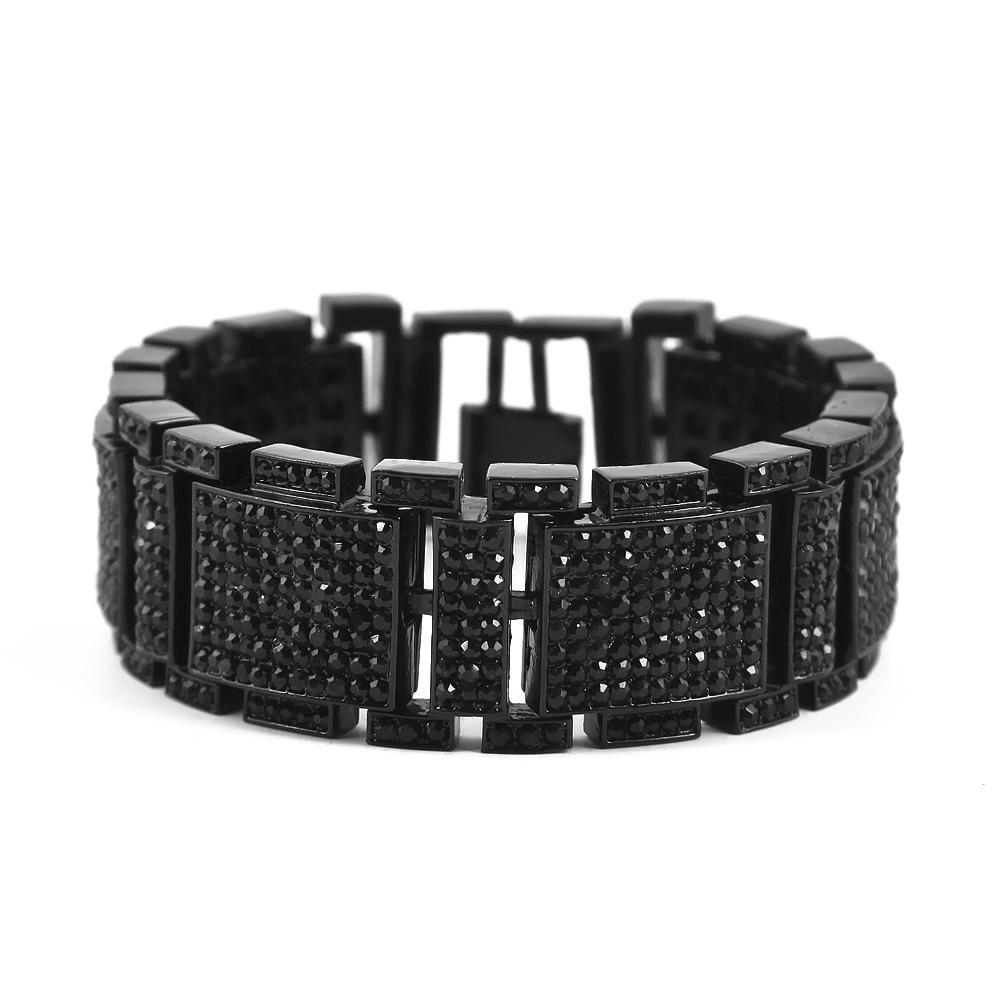 9 Styles Fashion Design Bracelets Luxury 18K Gold Plated Chain Full Diamond Hip Hop Bracelet Fine Jewelry Lover Gift