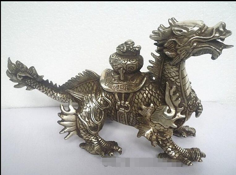 2017 New hot toys Huge Tibetan Silver luck Dragon Statue