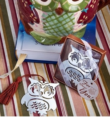 Free-Shipping-20pcs-lot-Owl-Book-Markers-Birds-With-Tassels-Metal-Bookmark-Stationery-For-Kids-Gift (2)
