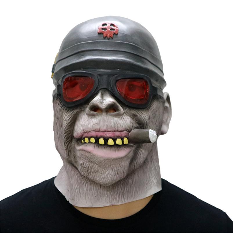 Gorilla Monkey Smoking Halloween Mask Horrible Latex Nun Venom Mask Melting Face Costume Halloween Masquerade Freeshipping #FO03 (4)