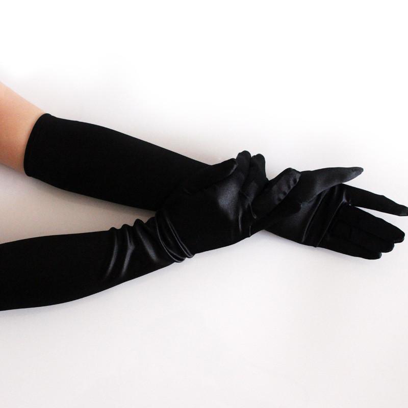 Mode Lange Handschuhe Leder Opera Hochzeit Braut Abend Party Ball Kostüm