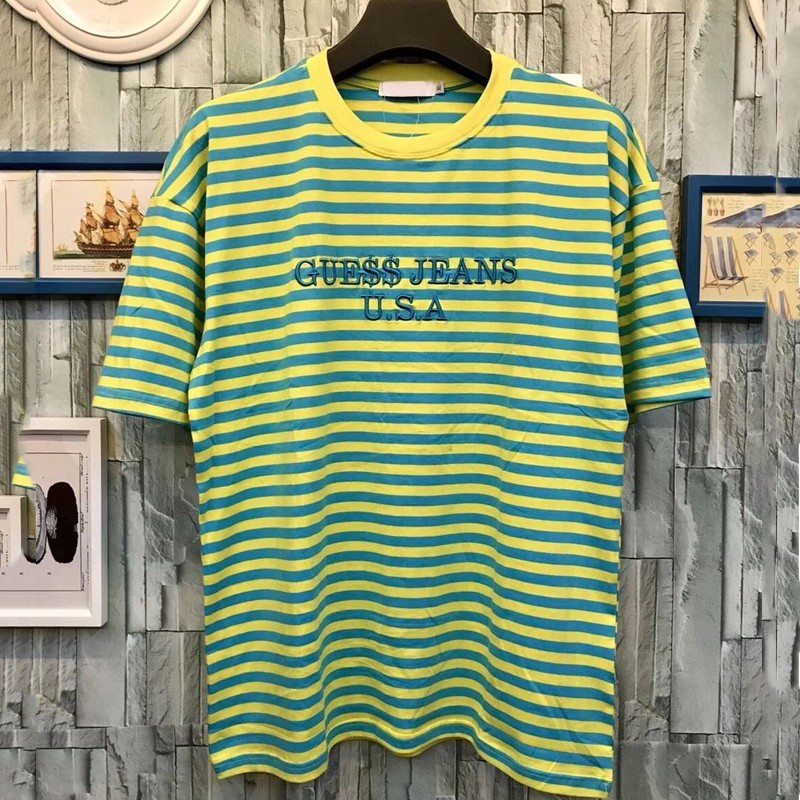 Luxury Purpose Tour T-shirt Summer A$AP ASAP Rocky Oversized T Shirt Striped Men Casual Short Sleeved Street Fashion Tees Tops HFYMTX306