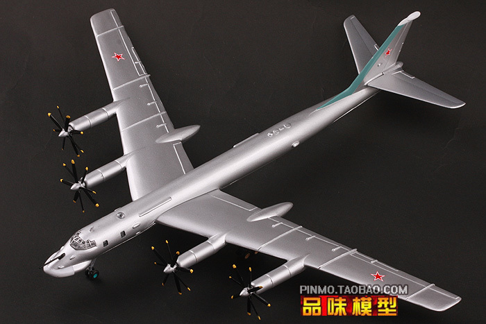 2018 Stalker Hobby Bust Ww2 Finished Aircraft Model Eva Material 1/144 Tu - 95 Heavy Strategic Long-range Bomber Decoration