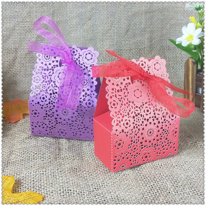 wedding party candy box Christmas candy cookies gift box ribbon wedding party decoration baby shower 6ZT21