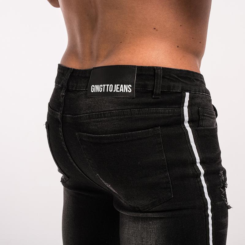 gingtto-mens-skinny-jeans-black-stripe-super-spray-on-zm23-2