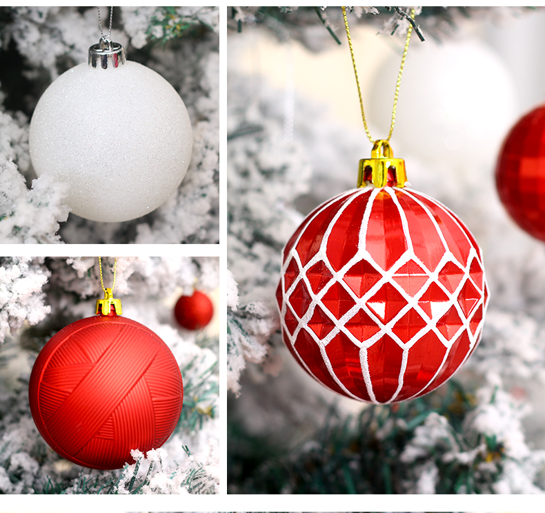 06 inhoo Christmas Tree Decoration Balls Ornaments Pendant Accessories 50pcs Red and white ball Decor For Christmas Home Party 2019