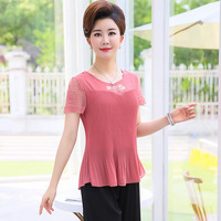 new-Summer-mother-clothing-female-short-sleeve-chiffon-shirt-middle-aged-office-ladies-O-Neck-lace.jpg_200x200