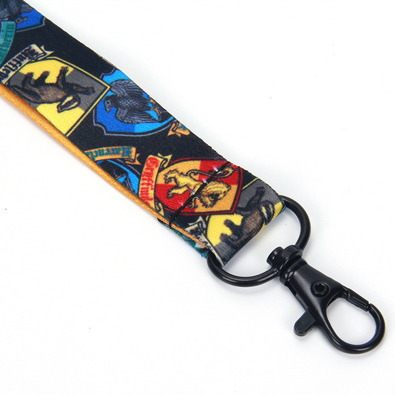 Harry Potter Keyring Lanyard Hogwarts School fabric Phone Rope Strap Charm Cord Lariat Clip Anti-lost Lanyards Keychain for Men Women Kids
