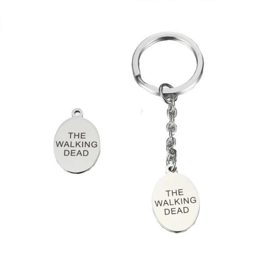 Walking Dead Daryl fan Gift, Bag Charm Keep Calm /& Kill Zombies Key-ring
