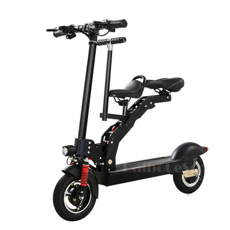 Daibot Foldable Kick Scooter Two Wheel Electric Scooters Adult 10 Inch 36v 350w Portable Electric Scooter For Kids With Seat Scooters For Adults Adult