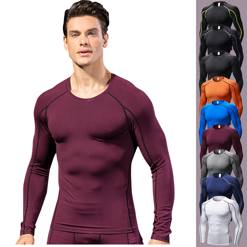 Men/'s Athletic Elastic Long Sleeved Hooded Reflective Fast Dry T-shirt Sport Top