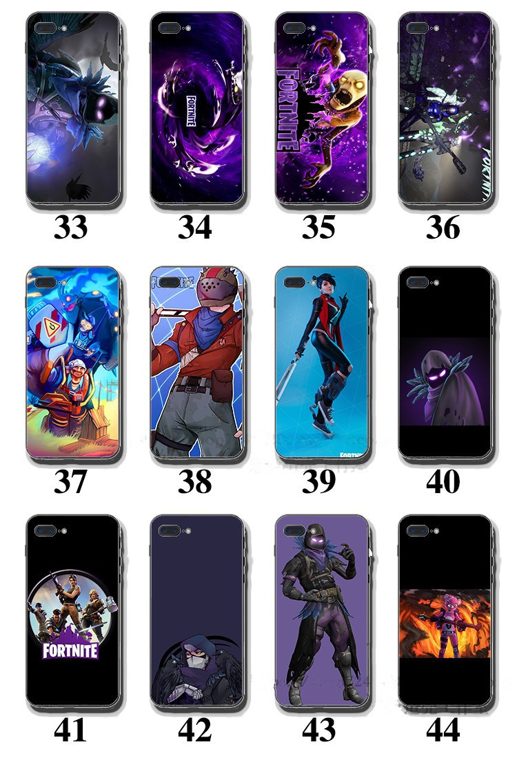Fortnite Battle Royale Phone Case For Samsung S7 S8 S9 Plus Soft Silicone  Black Clear TPU Back Cover Cases For Iphone X XS XR MAX 7 8 PLUS Ballistic