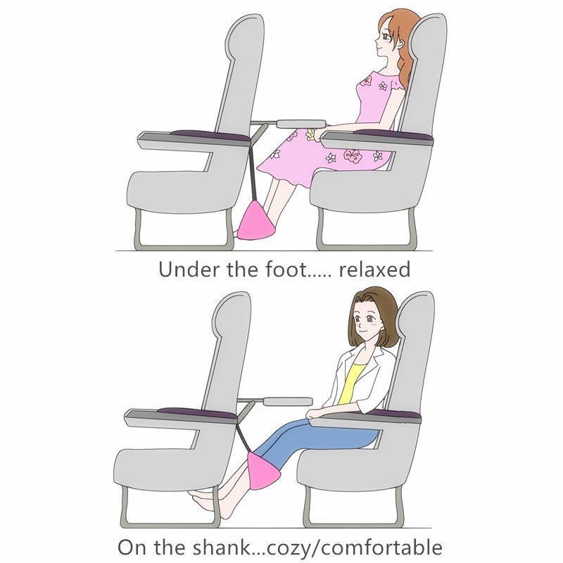 Travel flight hammock Foot Rest Legs Pillow Flight Cushion Hammock Portable Folding Footrests Desk Hang Foot Chair Care Tool FFA1025