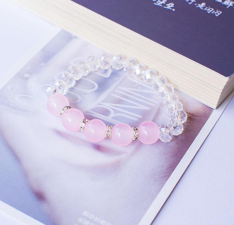 / Braccialetto di cristallo del quarzo del braccialetto di cristallo sfaccettato del braccialetto di Reiki accessori di modo del braccialetto quattro colori disponibili