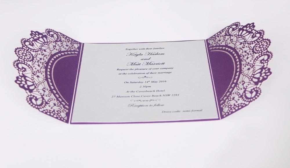 Shiny Wedding Invite With Envelopes
