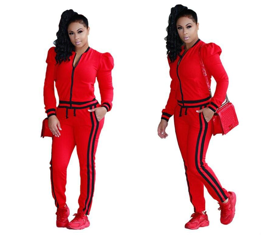 WAN XIANG YUAN Women Sportswear 2017 Autumn Long Sleeve Women 2 Piece Set Slim Pants Suits +Hooded Sets Women Suit 101702