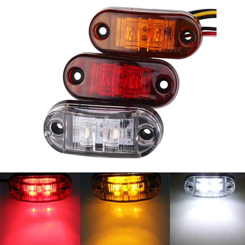 1/coppia di indicatori di direzione luci luce laterale Clearance lampada camion coda avvertimento luci bianco