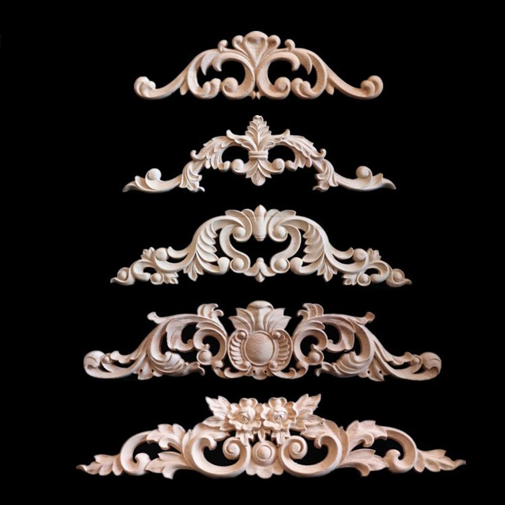 Acheter 2018 Artisanat Fournitures Bricolage En Bois Sculpté Coin Onlay Vintage Applique Cadre Mur Portes Meubles Décoratif De 291 Du Yaodaxidafa