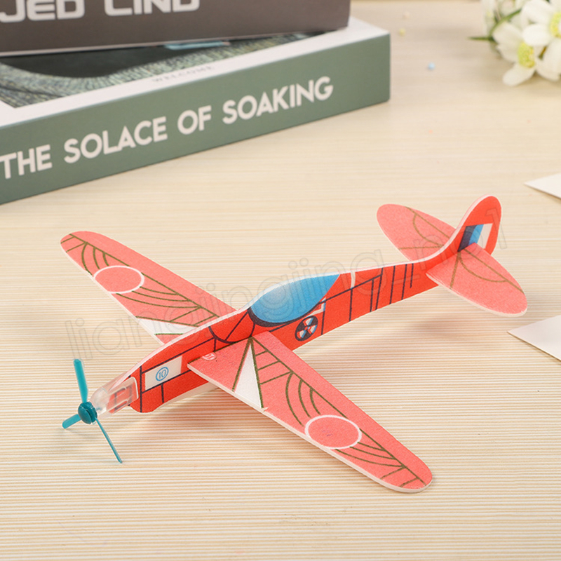 Children Magic Flying Gliders Aircraft Plane Hand Throw Foam Back Airplane Kids DIY Educational Aviation Model Toys Novelty Items GGA1205