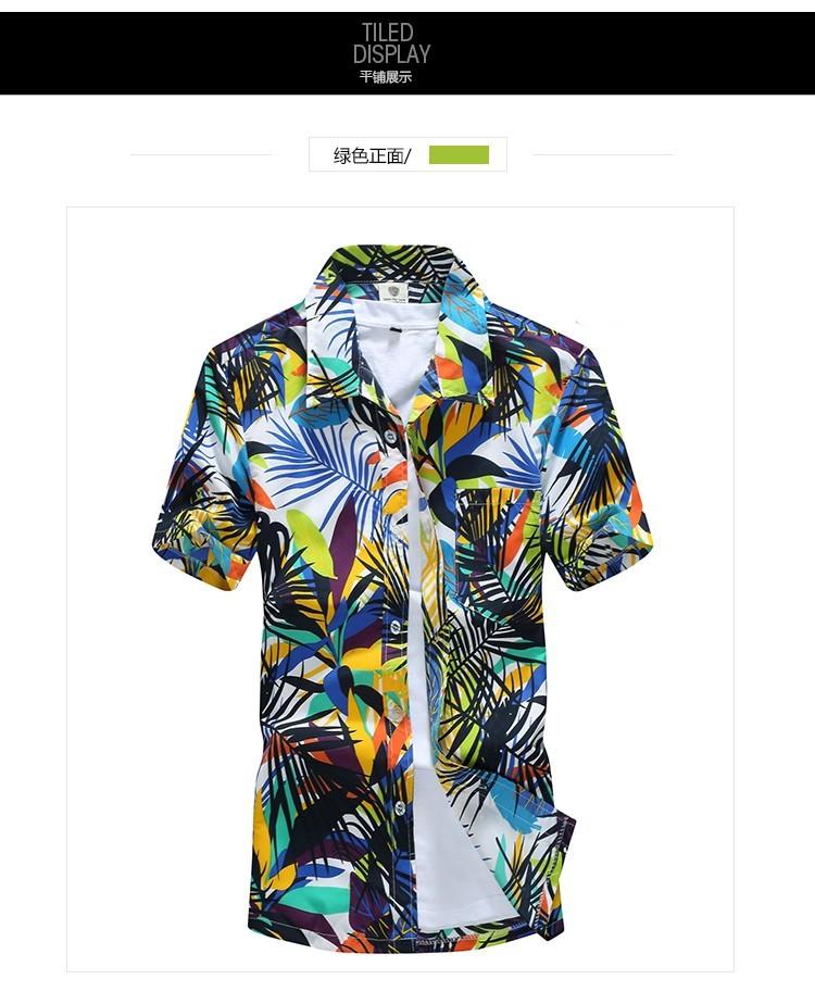 a55a9daae Mens Hawaiian Shirt Male Casual camisa masculina Printed Beach Shirts Short  Sleeve 2018 New Fashion Brand Asian SizeM-5XL Y1892102