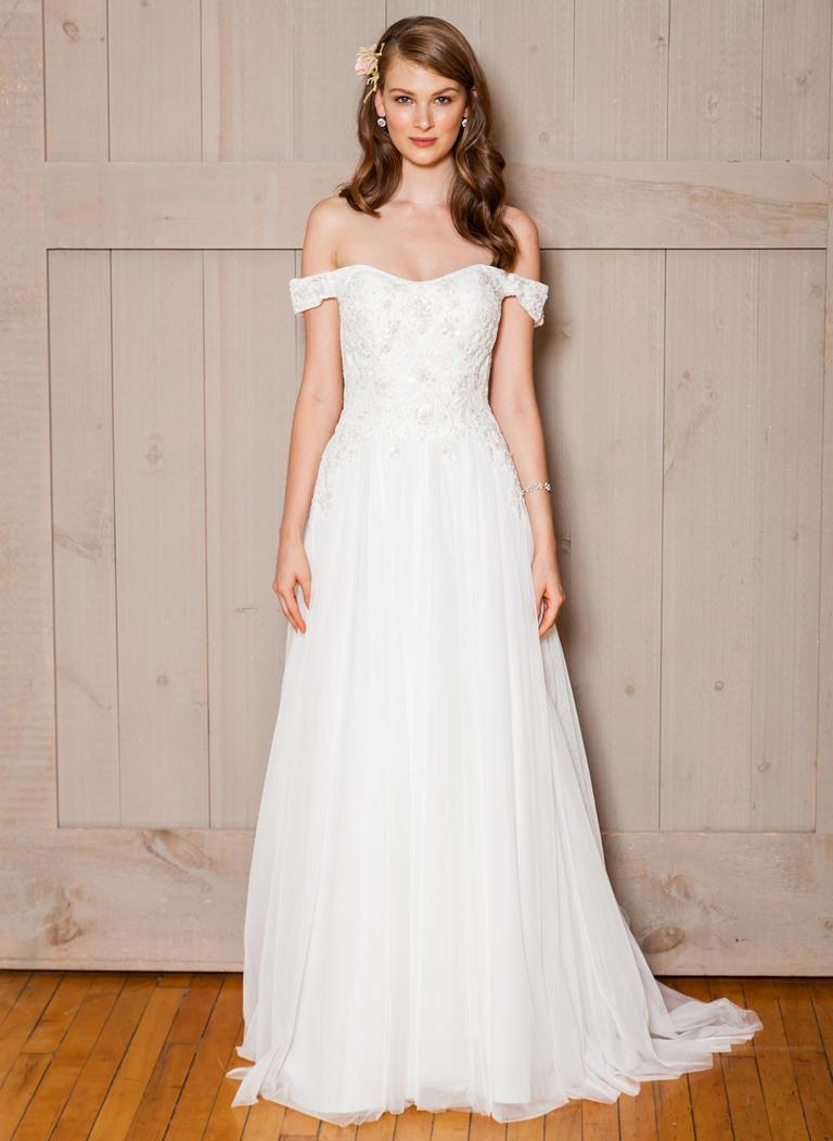 Plus Size Wedding Dresses 2018 Davids Bridal Gowns Lace Beaded Sequins  Backless Off The Shoulders A Line Garden Wedding Gowns Designer Dresses For  ...