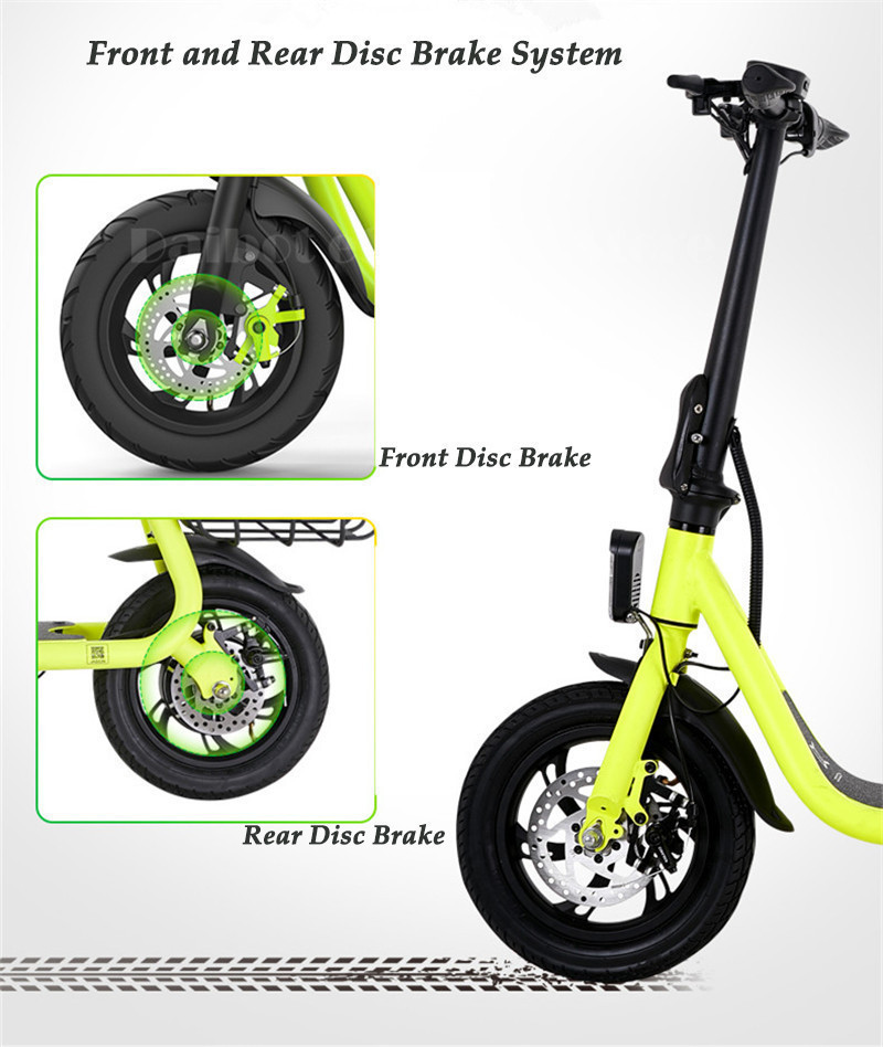 Daibot Electric Scooter For Kids Two Wheel Electric Scooters 12 inch Brushless Motor 350W 36V Portable Adult Electric Bike (2)