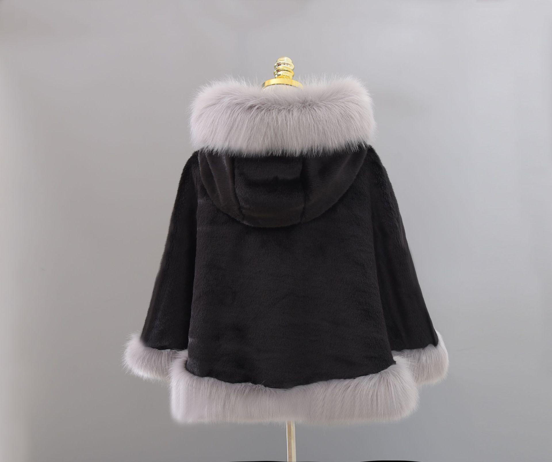 2018 nouvelle mode fausse fourrure châle gilet manteau châle dames manteaux d'hiver pour les femmes style vintage châle manteau femme manteau de laine