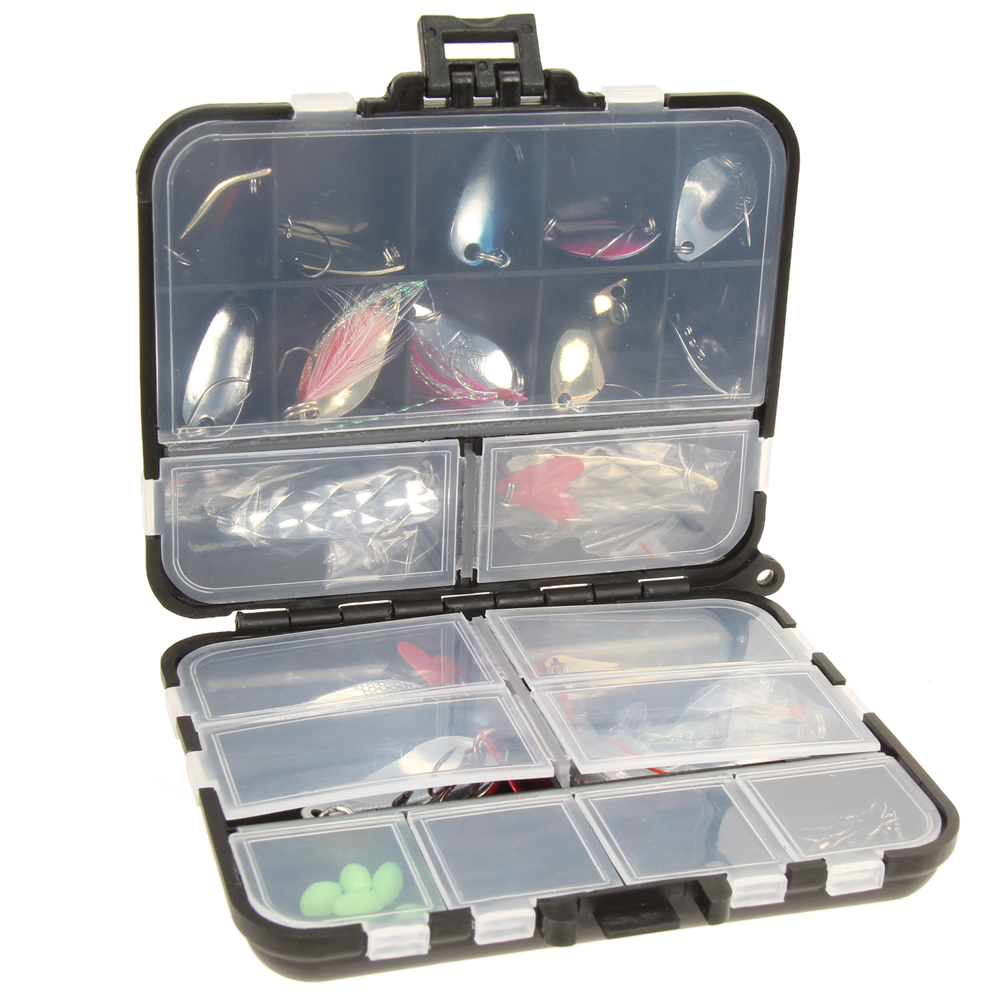 New Metal Spoon Fishing Lure Kits Spinning Lures with Box Fishing Tackle High Quality Artificial Fishing Lure Y18100906