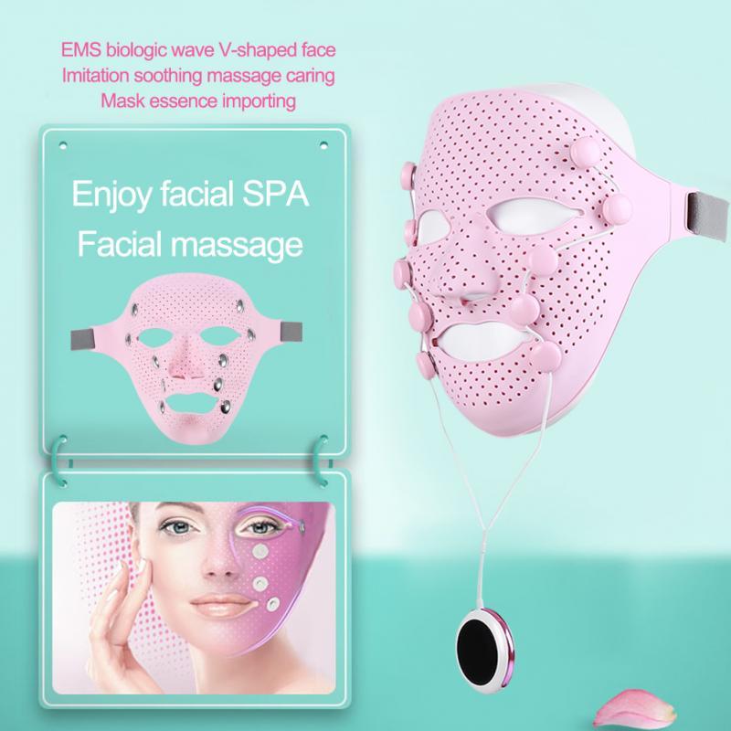 Elektrische Vibration Gesichtsmaske Massager Heimgebrauch Anti-Falten-Magnet Massage Gesichts SPA Akne Faltenbehandlung Beauty Salon
