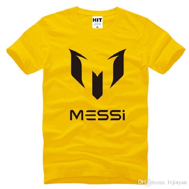 New Designer Messi T Shirt Men Fashion Soccer Jerseys Short Sleeve Cotton Argentina Star Tops Tees Male Football Sport Tee Shirt