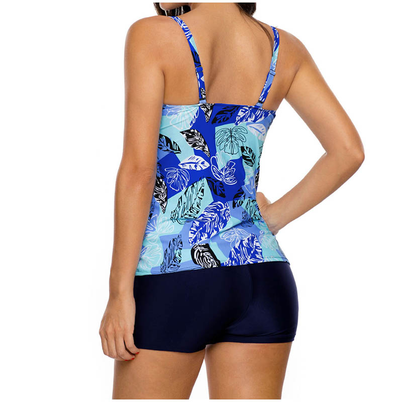 FS Female Floral Leaves Print Long Sport Swimsuit High Waist Trunks Bikinis Set Wrap Swimwear For Women Brazilian Bathing Suits_7