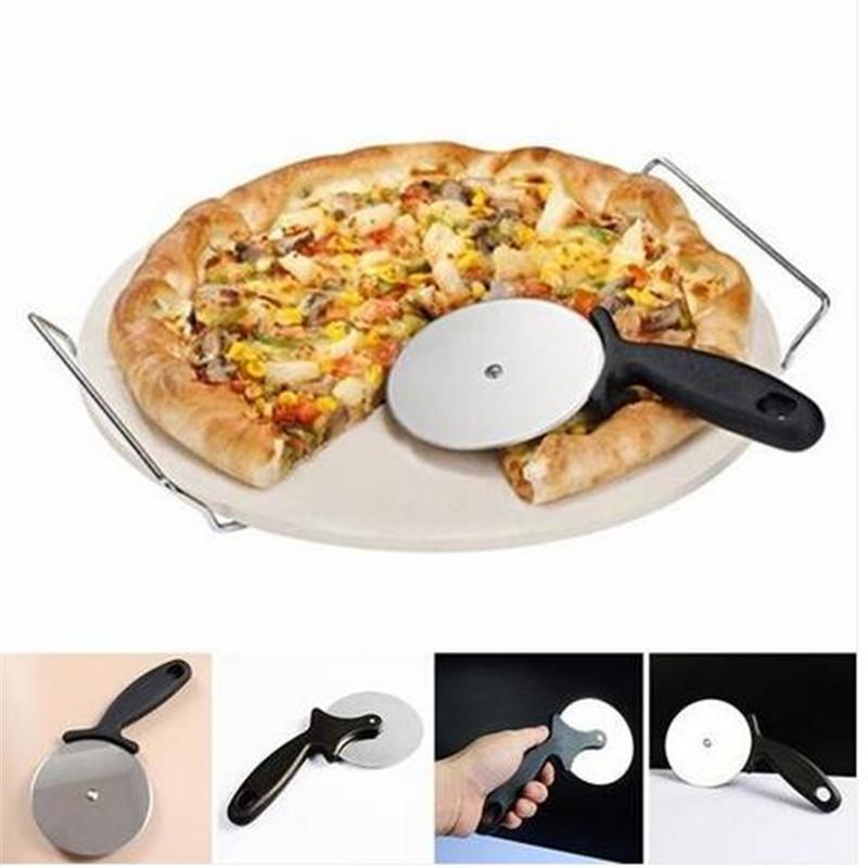 Pizza Cutter roue plastique poignée trancheuse hachoir Cuisine