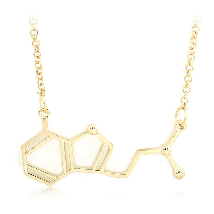 Best Sellers Necklace Physicochemical Living Structure Pendeloque Cut Molecule Necklace European Ornaments Yiwu