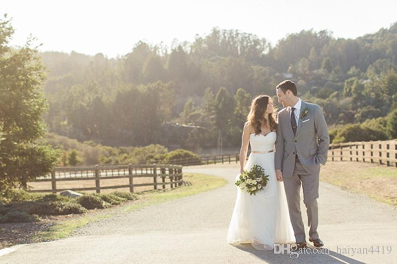 2016 New Country Style A Line Wedding Dresses Sweetheart Tulle Summer Beach Wedding Gowns Floor Length With Gold Belt Custom Bridal Dress