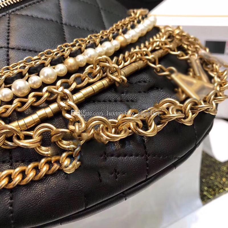 Designer Luxus Handtaschen Geldbörsen Designer Brieftasche Hochwertige Ägypten Serie Metallteile Perlen Perlenkette Echtes Leder Lady Gürteltasche