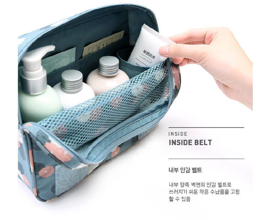 Travel Makeup Bag Oxford Cloth Waterproof Cosmetic Bags Travel Organizer Bathroom Storage Hanging Bag Cosmetic Bag For Make Up