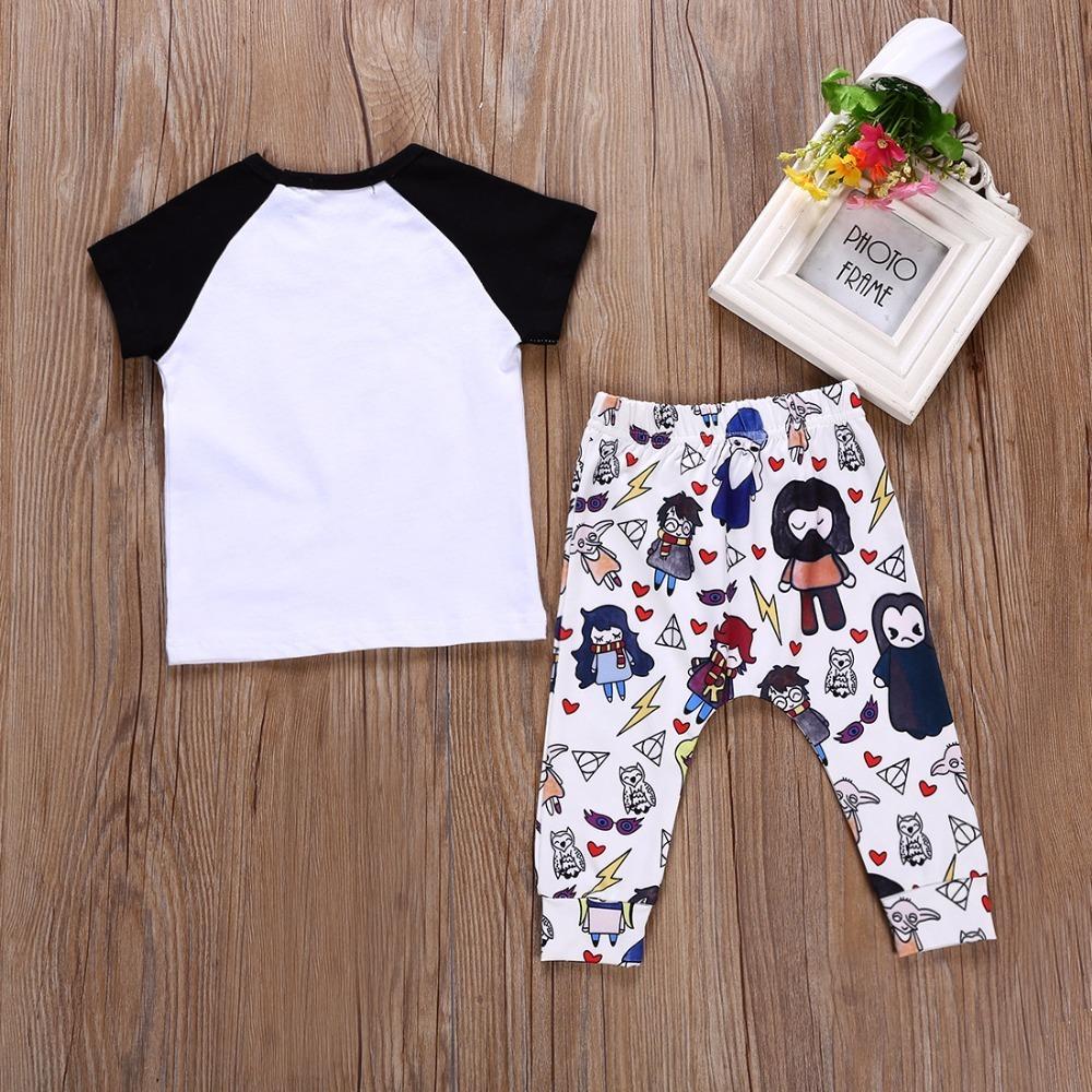 02 harry potter baby t shirt pants hat 3pcs set